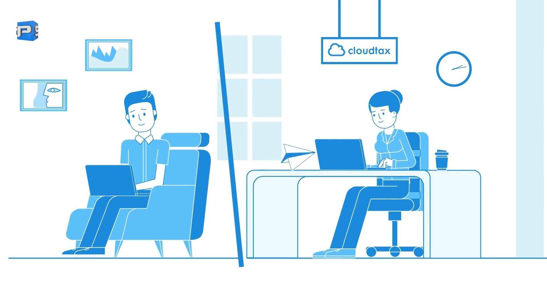 CloudTax Pro Explainer Video - 2D Explainer Portfolio